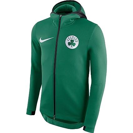 882a6ca225e5 Celtics 2018 Men s Kelly Green Showtime Therma Flex Performance Full-Zip  Hoody (Small)