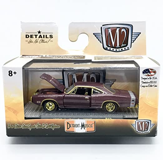 M2 Machines by M2 Collectible Detroit-Muscle 1971 Dodge Charger Super Bee 383 1:64 Scale R27 14-52 Green//Black Top Details Like NO Other!