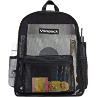 Vorspack Heavy Duty Mesh Backpack Transparent Backpack with Solid Frame and Enhanced Padded Strap for School Work Beach