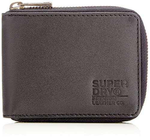 Superdry - Wing Zip In A Tin, Carteras Hombre, Negro (Nero),