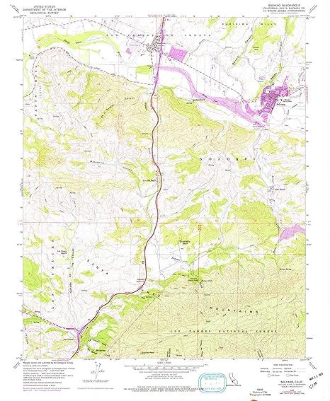 Amazon Com Yellowmaps Solvang Ca Topo Map 1 24000 Scale 7 5 X