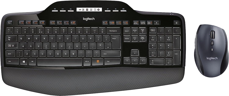 Logitech MK710 Wireless Desktop layout Black