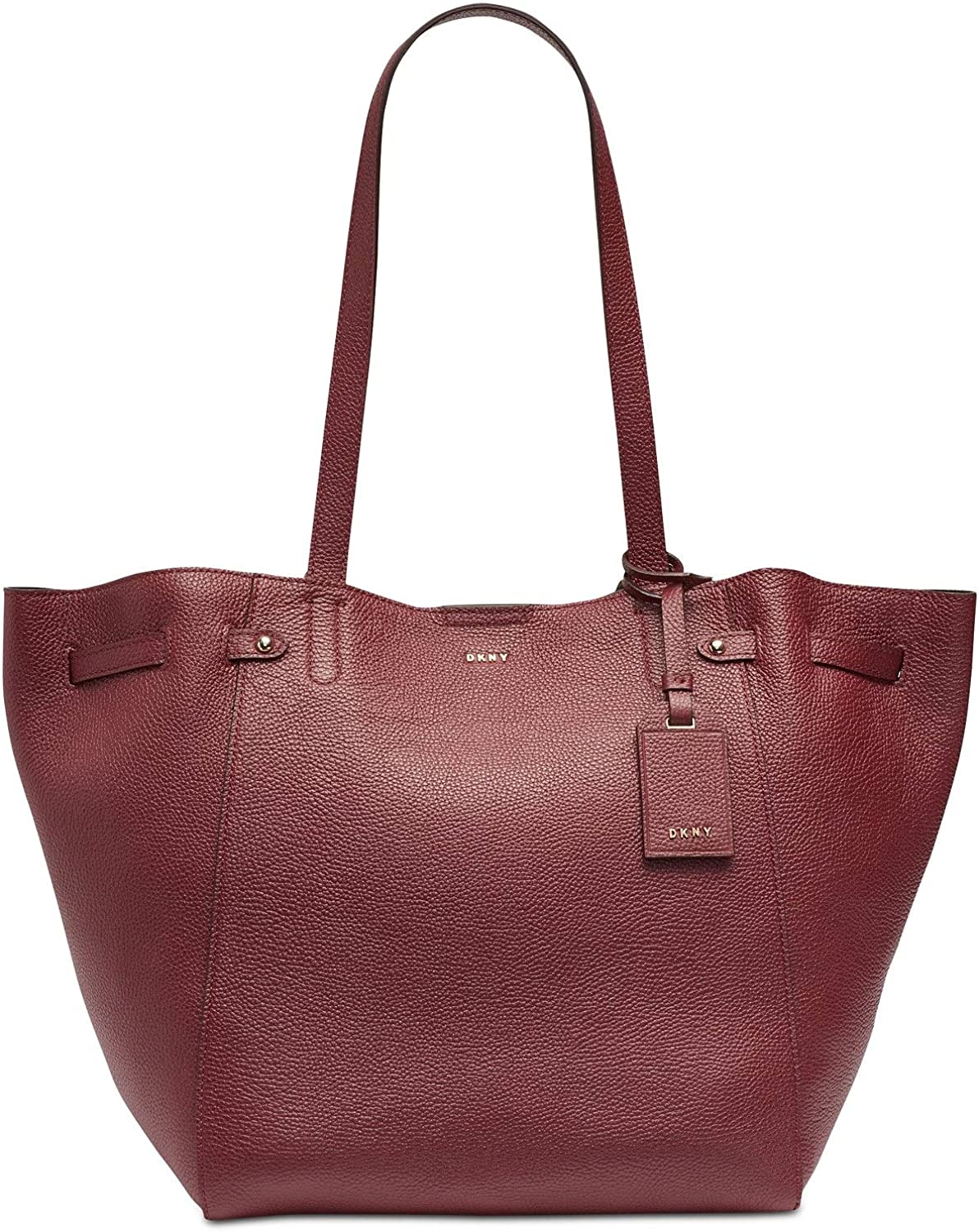DKNY Ludlow Pebbled Leather Large Tote Travel Bag Blood Red