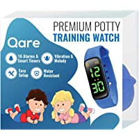 Premium Potty Training Watch - Only Watch with Multiple Alarms (16) to Fit Your Schedule & Hassle Free Smart Timer - Water Resistant - Both Vibration & Music - Kids Lock - Touchscreen- Easy Use (Blue)