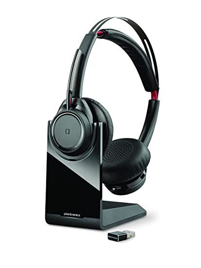 2cb3cdea5f5 Amazon.com: Plantronics Voyager Focus UC Bluetooth USB B825 202652-01  Headset with Active Noise Cancelling: Cell Phones & Accessories