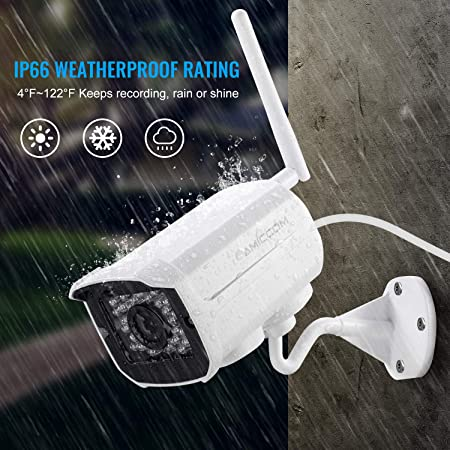 Outdoor WiFi Security Camera- 2 Pack 1080P HD Video Surveillance System – WiFi, Waterproof, IP Night Vision Outdoor Camera with 2-Way Audio and iOS, Android Compatibility 02