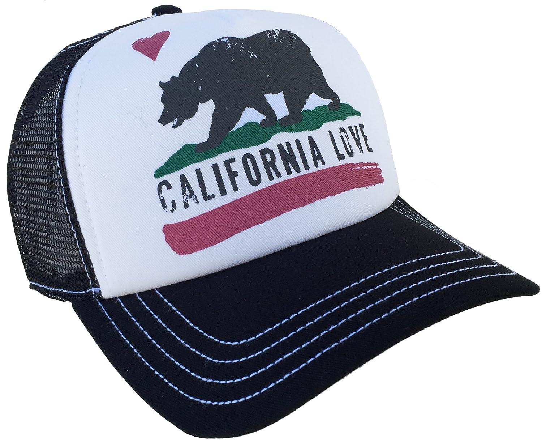 ... free delivery 52511 41d15 Amazon.com Brooklyn Hat Co California Love  Trucker Cap (Black ... 1f368110851