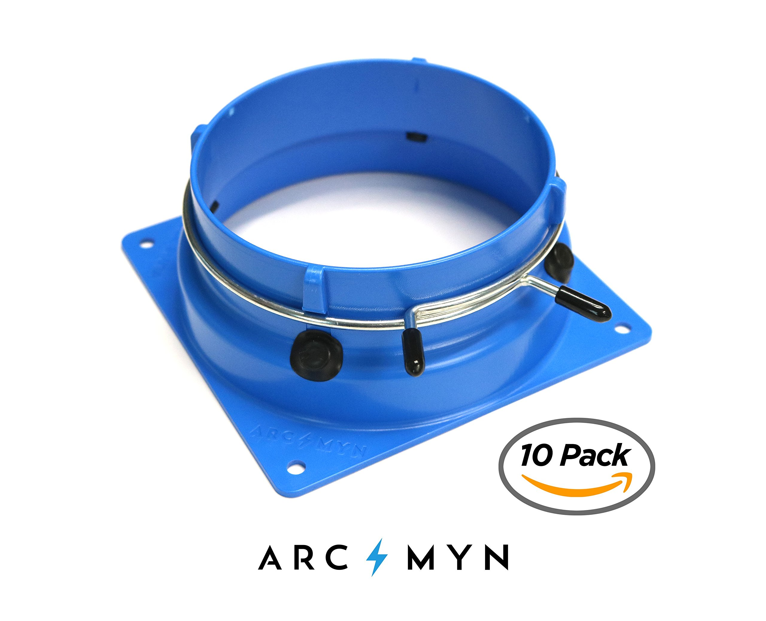 Antminer S9 T9 L3+ E3 X 3 D3 120mm Fan Duct Cooling Shroud to 4 Inch Vent Hose (10 Pack)
