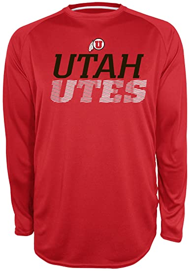 26536fab Champion NCAA Utah Utes Beast 2 Long Sleeve Crew Neck Raglan Tee, Small,  Athletic