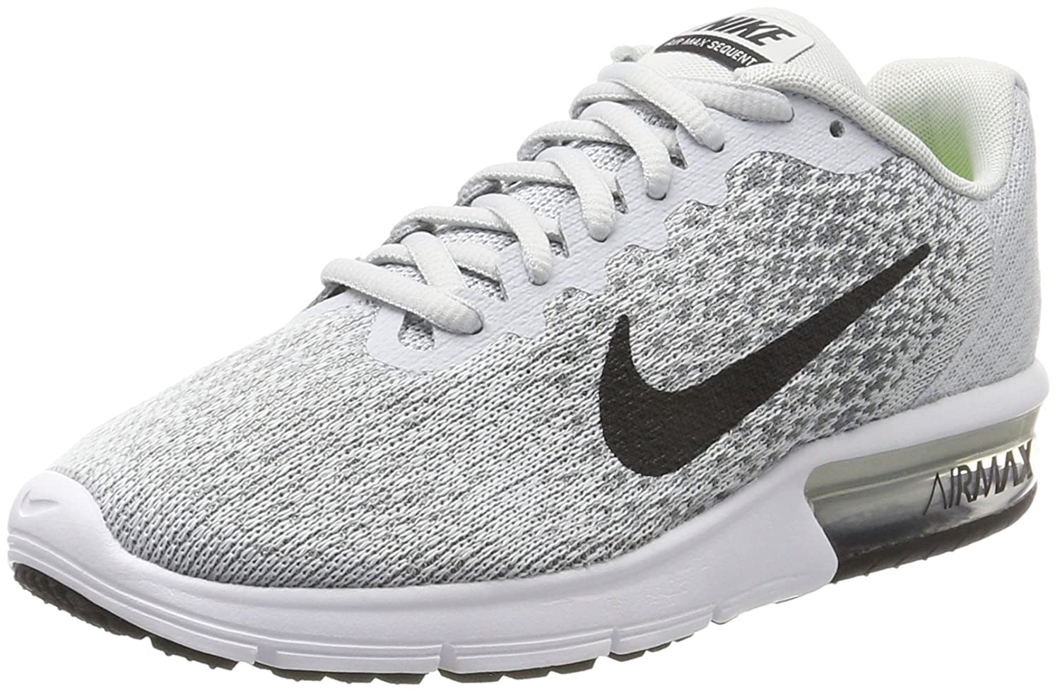NIKE Men's Air Max Sequent 2 Running Shoe B01H2LNVUK 7.5 D(M) US|Pure Platinum/Black/Cool Grey