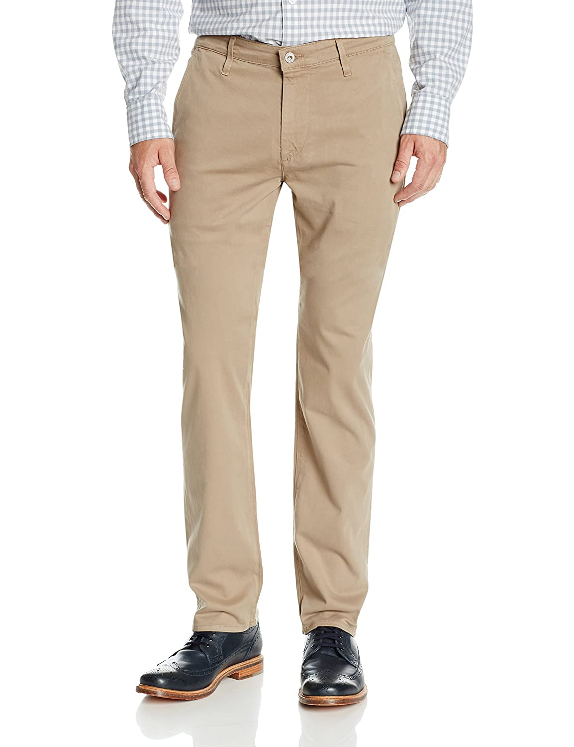 AG Adriano Goldschmied mens The Lux Khaki Tailored Trouser 1188SUB