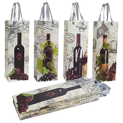 Juvale Bolsas de transporte de vino reutilizables ecológicas ...