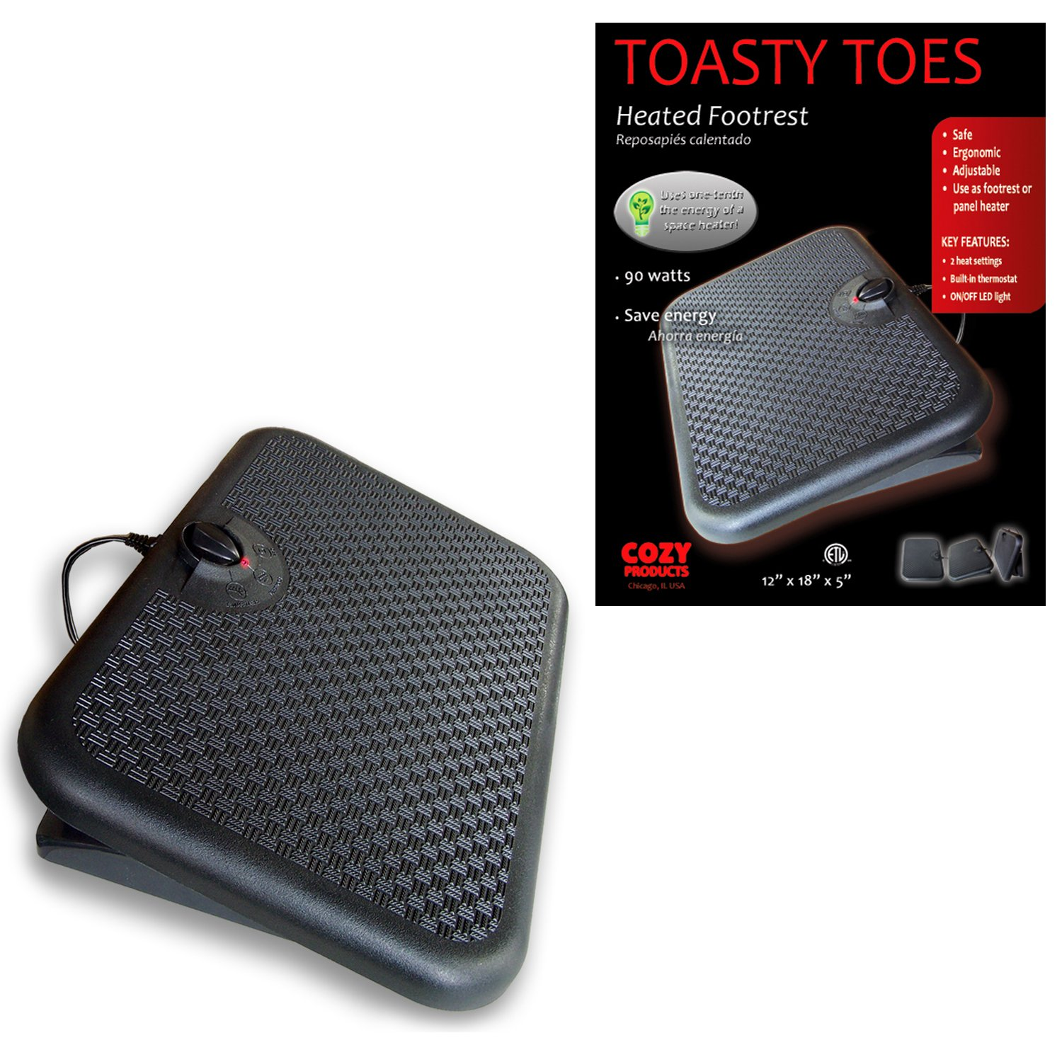 Cozy Products TT Toasty Toes Ergonomic Heated Foot Warmer by Cozy (Image #2)
