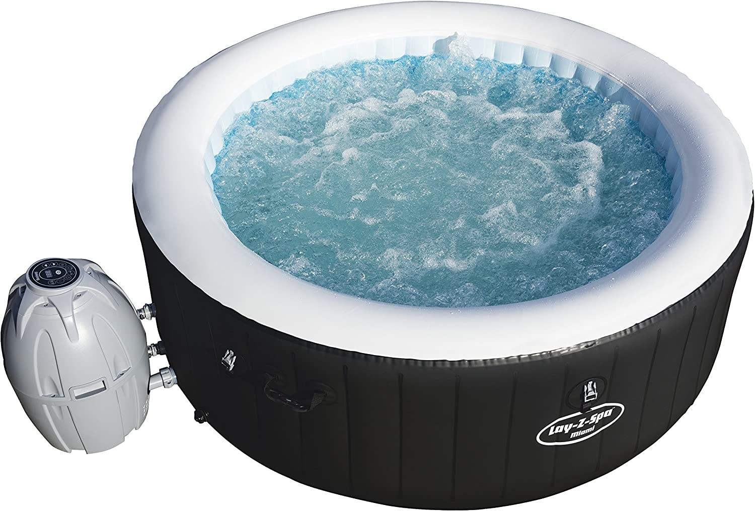 Bestway Lay- Z-Spa Miami 54123 - Spa Hinchable para 2-4 Personas: Amazon.es: Jardín
