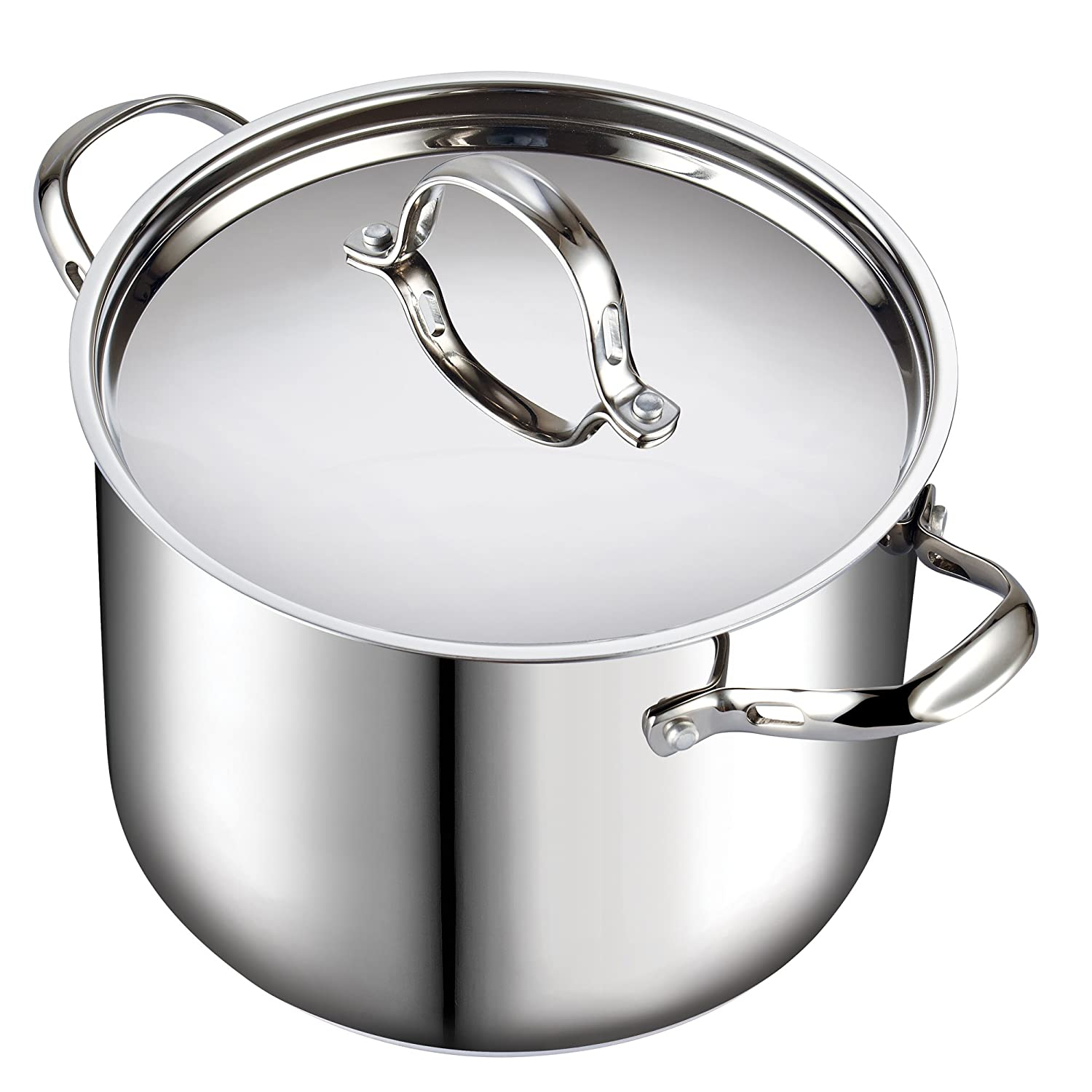 Cooks Standard 02520 Quart Classic Stainless Steel Stockpot with Lid, 12-QT, Silver