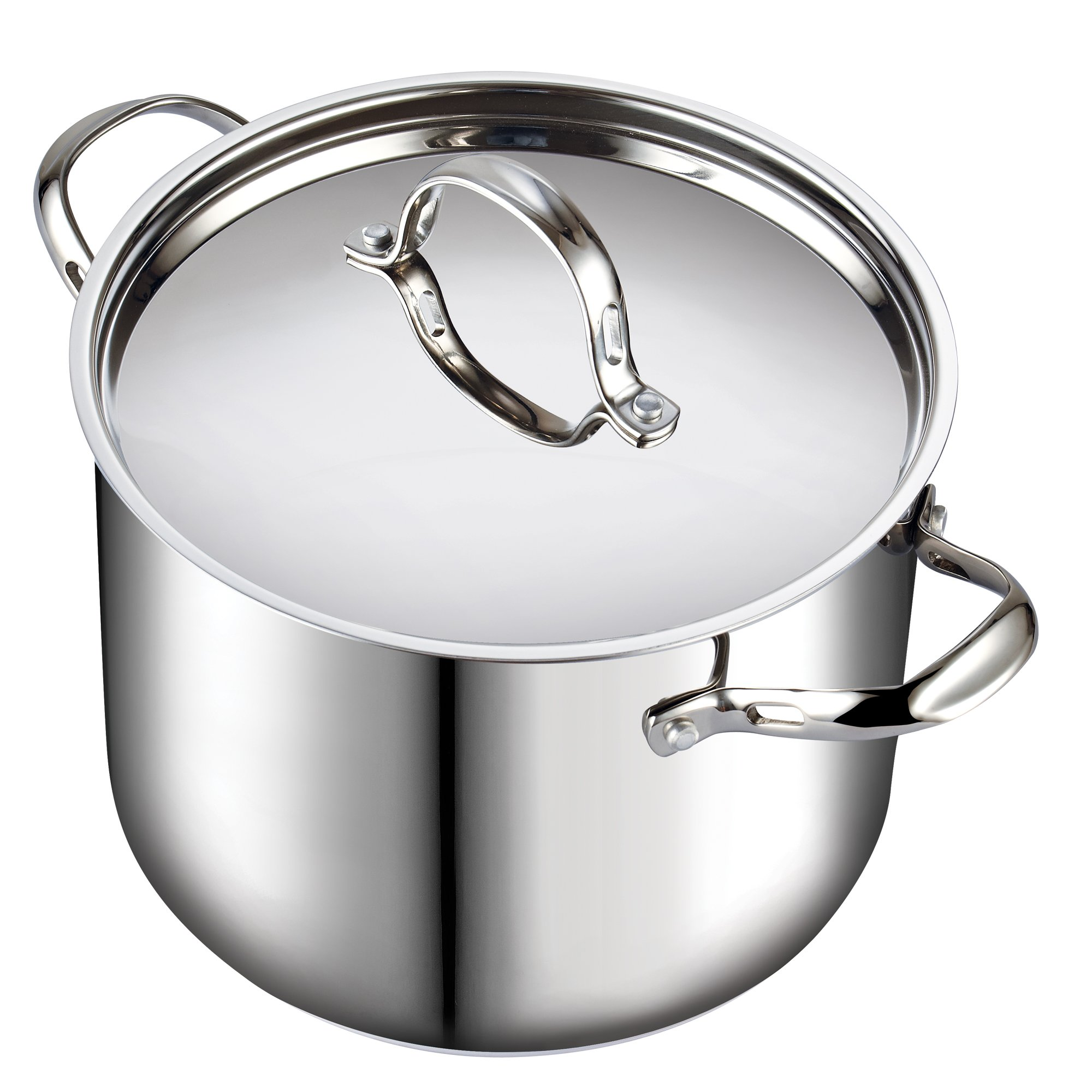 Cooks Standard 02520 Quart Classic Stainless Steel Stockpot with Lid, 12-QT, Silver by Cooks Standard