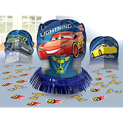 amscan Cars 3 Table Decorating Kit 23 Piece Centerpiece: Toys & Games