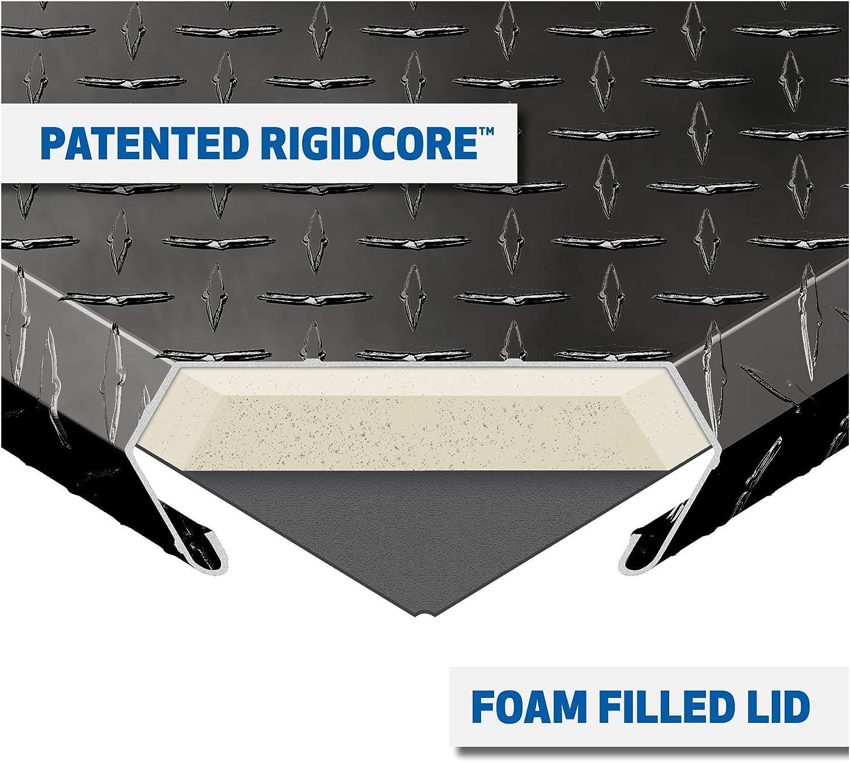 RigidCore Lid UWS EC30102 48-Inch Gloss Black Heavy-Wall Aluminum Truck Side Tool Box