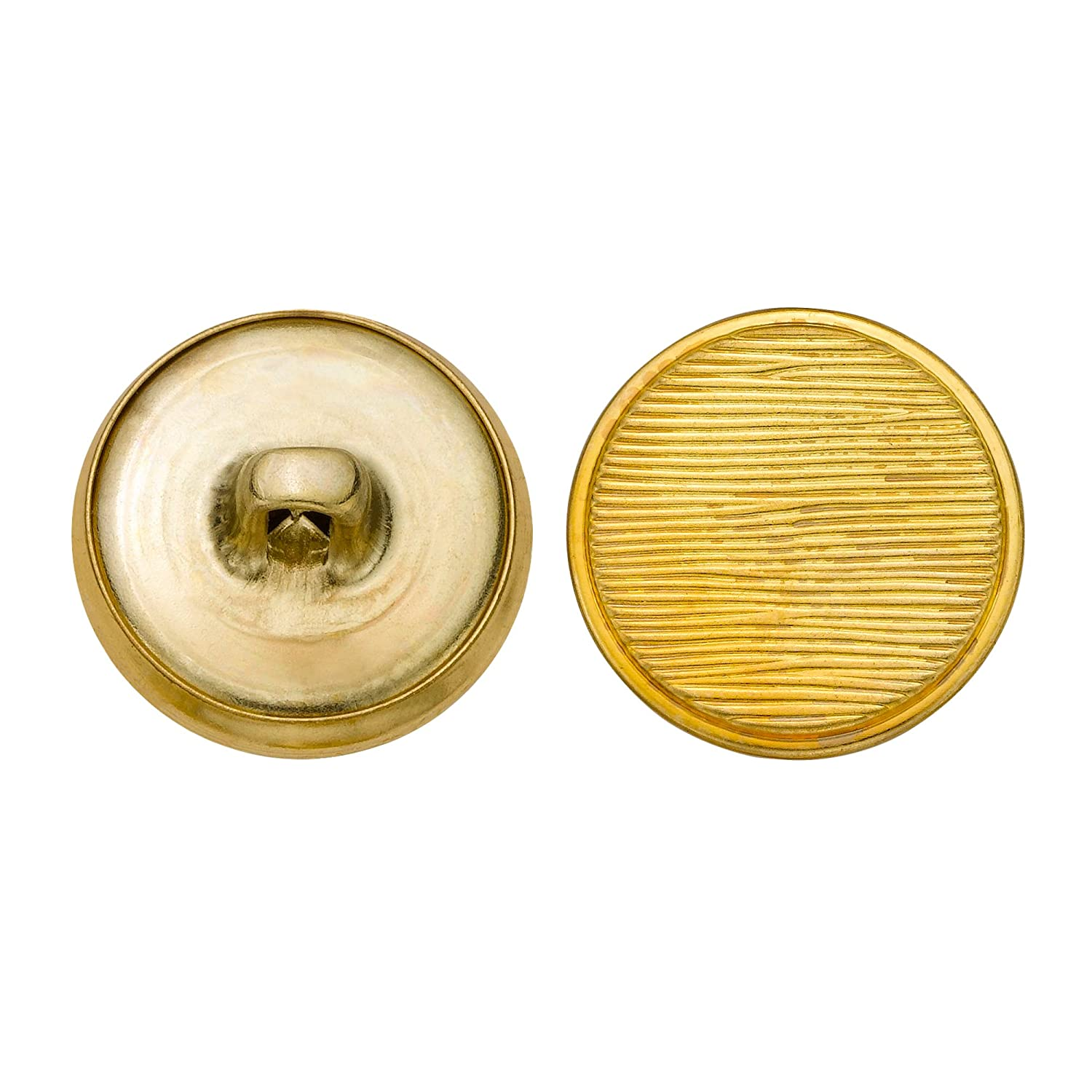 C/&C Metal Products 5152 Lined Livery Metal Button Size 30 Ligne 36-Pack C/&C Metal Products Corp Gold