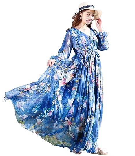 Medeshe V-Neck Semi-Formal Maxi Evening Party Dress Beach Bridesmaid  Sundress  Amazon.co.uk  Clothing fe8614838