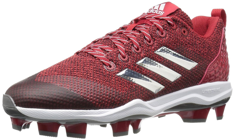 adidas Men's Freak X Carbon Mid Baseball Shoe B01MZ20J6T 17 D(M) US|Power Red, Silver Met., Ftwr White
