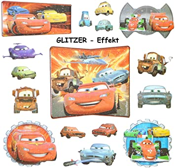 16 tlg. Set - 3-D Effekt - GLANZ - Sticker / Aufkleber - \