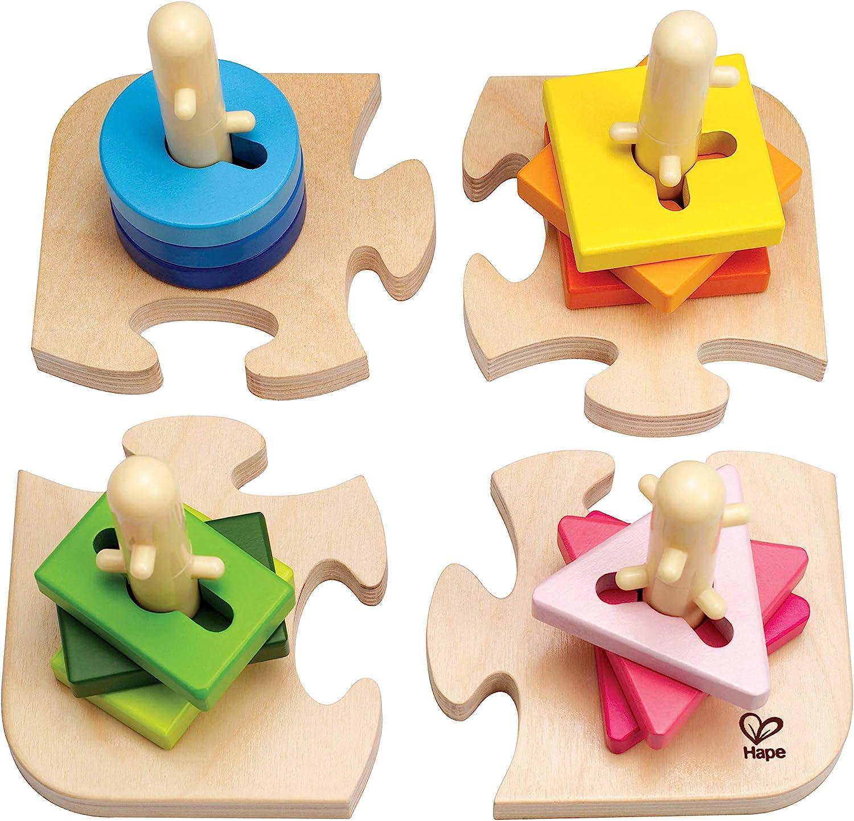 Hape Creative Toddler Wooden Peg Puzzle, L: 7.8, W: 4.6, H: 7.8 inch