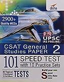CSAT Paper 2 IAS Prelims 101 Speed Tests Practice Workbook with 10 Practice Sets