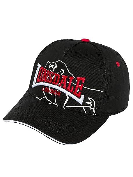 Lonsdale Herren Baseball Cap Schwarz Schwarz Einheitsgröße  Amazon ... 009ee7159e