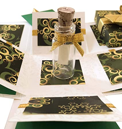 Crack of Dawn Crafts 3 Layered All Occasion Explosion Box with Message in a  Bottle - Hara Hungama