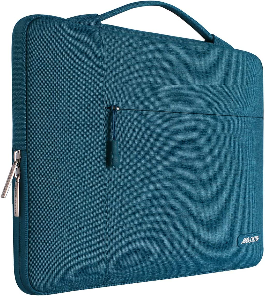 MOSISO 360 Protective Laptop Briefcase Handbag Compatible with 13-13.3 Inch MacBook Pro Polyester Carrying Sleeve Case Bag with Fully Open Zipper /& Inner Mesh Pocket,Light Gray/&Hot Blue MacBook Air