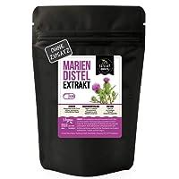 Mariendistel 10:1 EXTRAKT [aus den Samen] | 120 Kapseln 450mg hochdosiertes Extrakt | frei von Zusatzstoffen | ohne Füll- & Fließmittel | laborgeprüft [siehe Bild] | 100% vegan & in Deutschland hergestellt. (120 Kapseln)