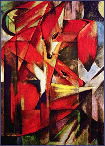 Expressionist Artist Franz Marc/'s Blue Fox Counted Cross Stitch Chart Pattern