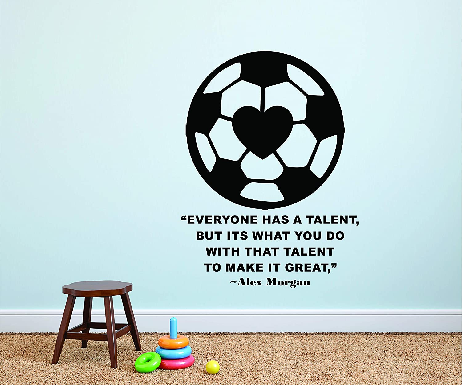 Magnificent Amazon Com Alex Morgan Wall Decals For Kids Bedrooms Girls Download Free Architecture Designs Barepgrimeyleaguecom