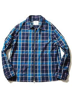 Plaid Cotton Blouson 51-18-0306-012: Navy / Pink