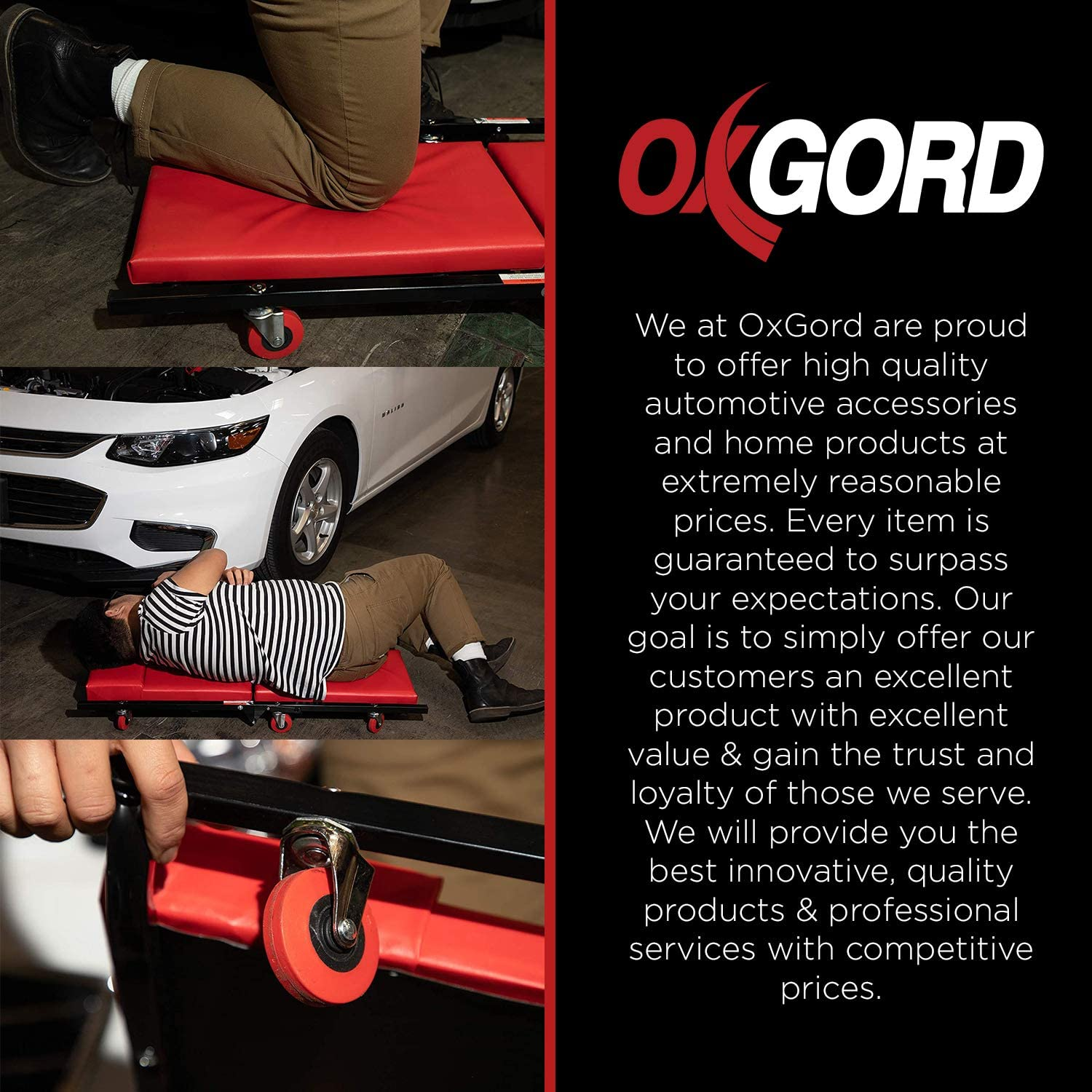 """Mechanic Creeper Car Shop Creepers - Garage Automotive Accessories Best for Auto Floor Low Profile 40"""" Crawler Roller Mechanics Tools & Equipment Foldable Scooter Board Flat Mat Stool Chair Seat Cart: Home Audio & Theater"""
