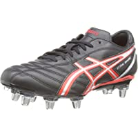 asics Mens Lethal Charger 8 Stud Rugby Boots Cleats - Black