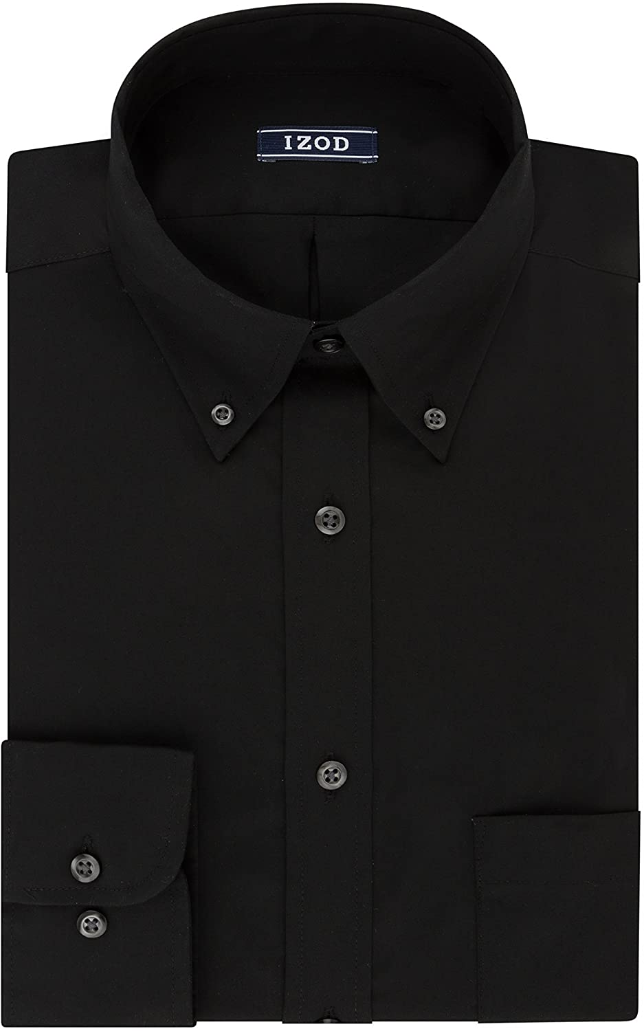 IZOD Men's Dress Shirt Regular Fit Stretch Solid Button Down Collar at  Men's Clothing store