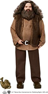 ?Harry Potter Rubeus Hagrid Collectible Doll, Approx. 12-inch Wearing Belted Shirt and Vest, Dragon Accessory, Gift for 6 Year Olds and Up