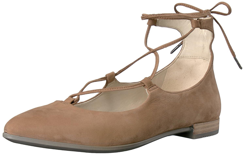 ECCO Women's Women's Shape Tie up Ballerina Ballet Flat B01I6D2QKE 39 EU/8-8.5 M US|Camel