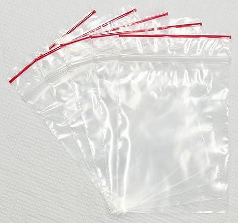 Zip bolsa con cierre a presión Transparente 250 x 350 mm ...
