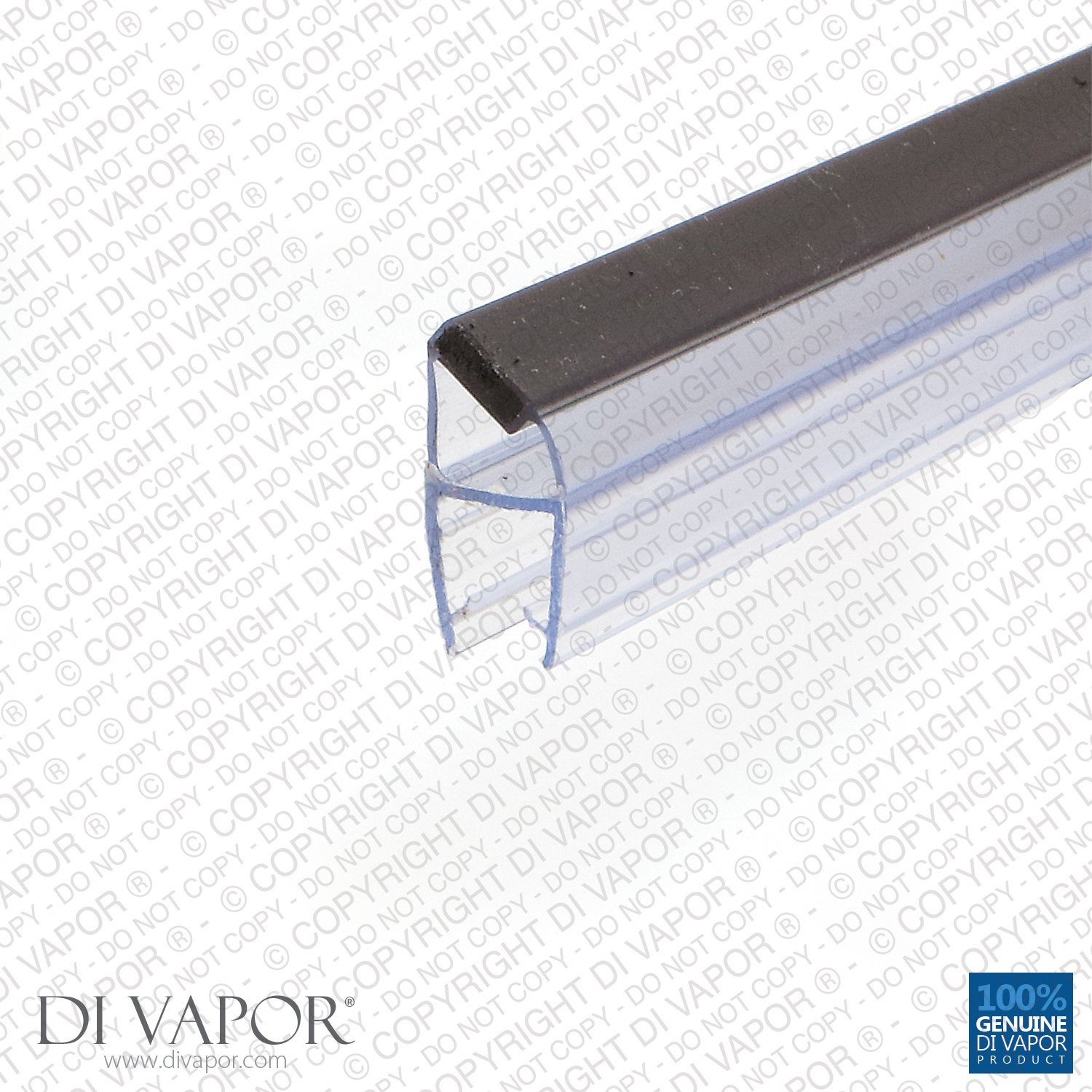 Di Vapor (R) Shower Magnetic Door Seal | 4-6mm/8mm/10mm Glass | 85cm/2m (Glass Thickness: 4-6mm, Seal Length: 85cm)