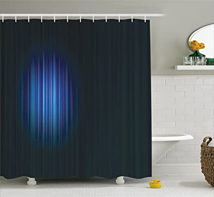 Amazon com: Ambesonne Navy Blue Decor Shower Curtain by, Single