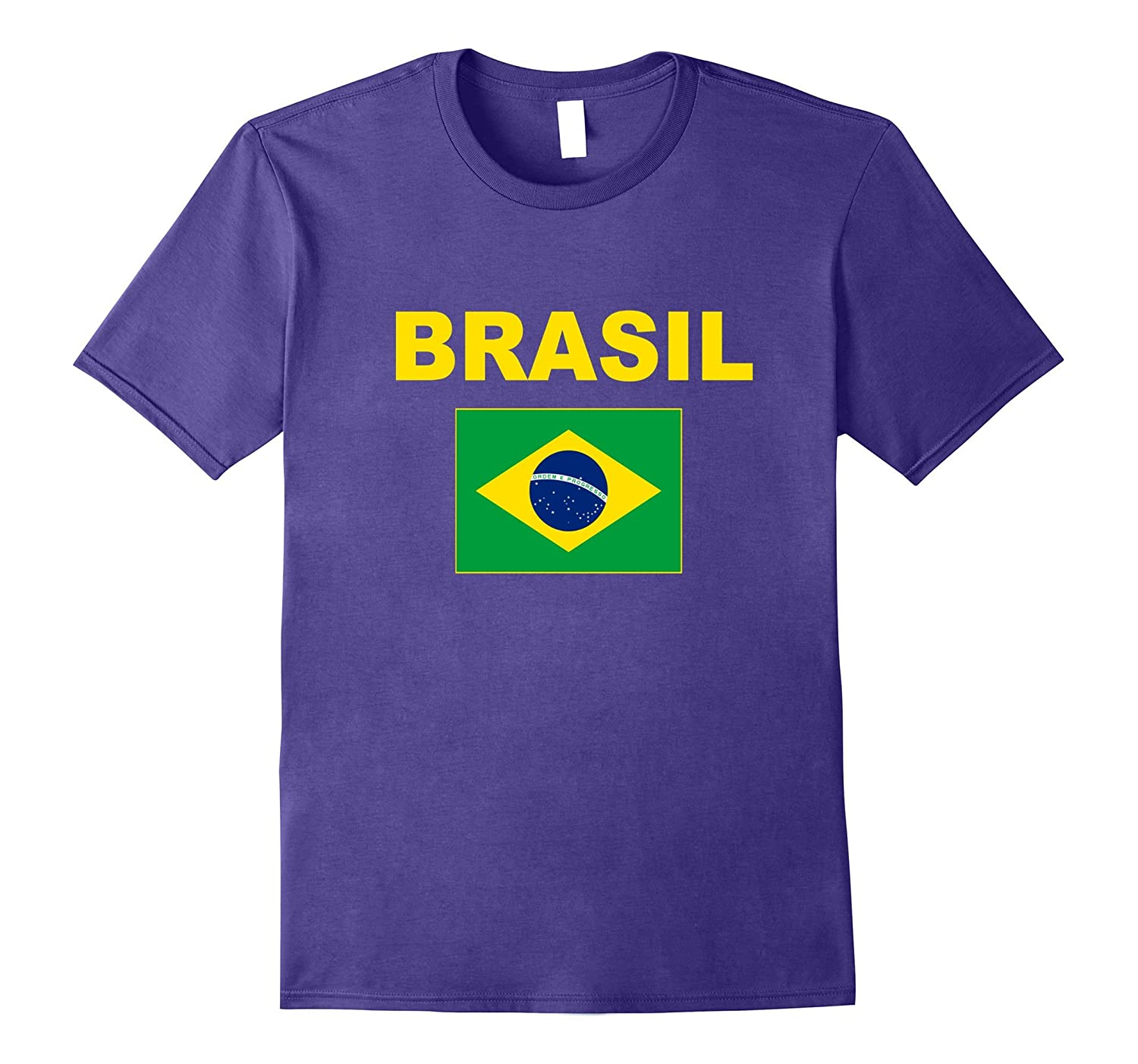 Brasil T-Shirt Flag Brazil Shirt Cool Unisex Fashion Top Tee-Vaci