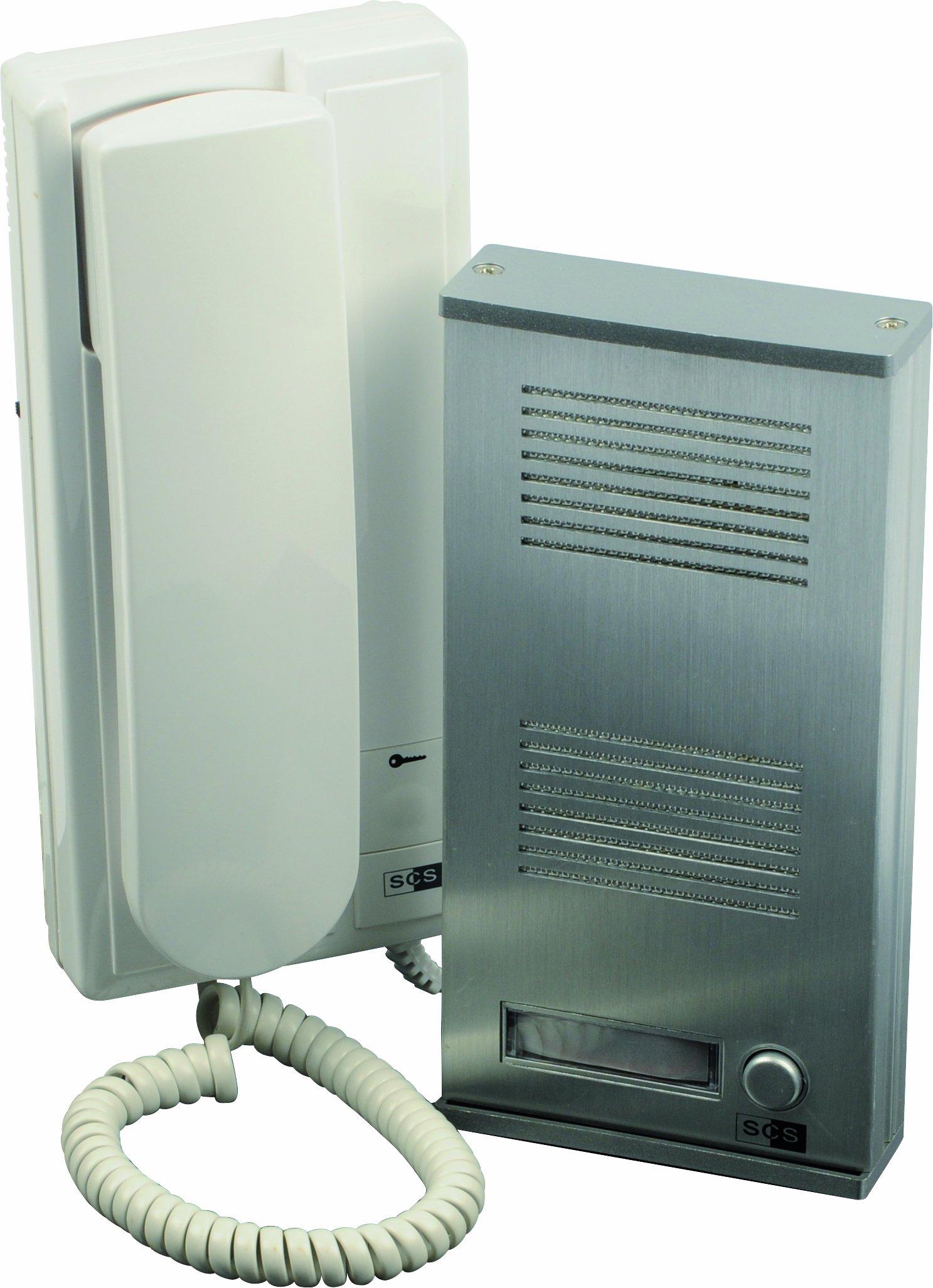 SCS SEN4137398 Kit portier audio façade métallique Pose en applique 2 Fils intégral product image