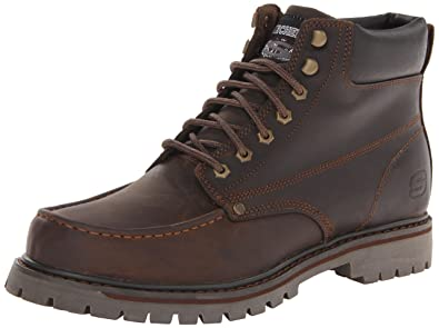 Skechers Men's Bruiser Chukka Utility Work Boot,Dark Brown,7.5 ...