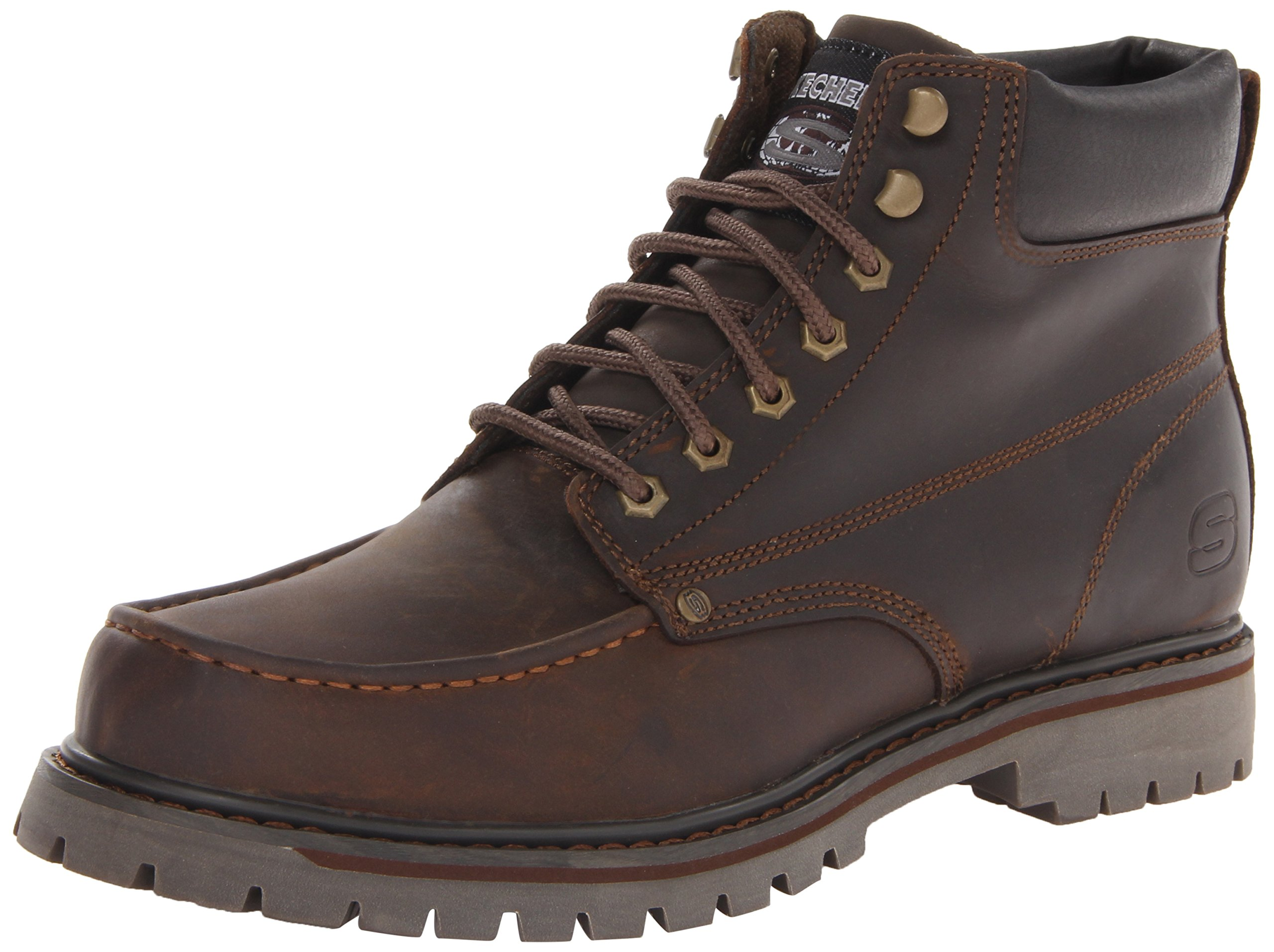 Skechers  Men's Bruiser Chukka Utility Work Boot,Dark Brown,11 M US