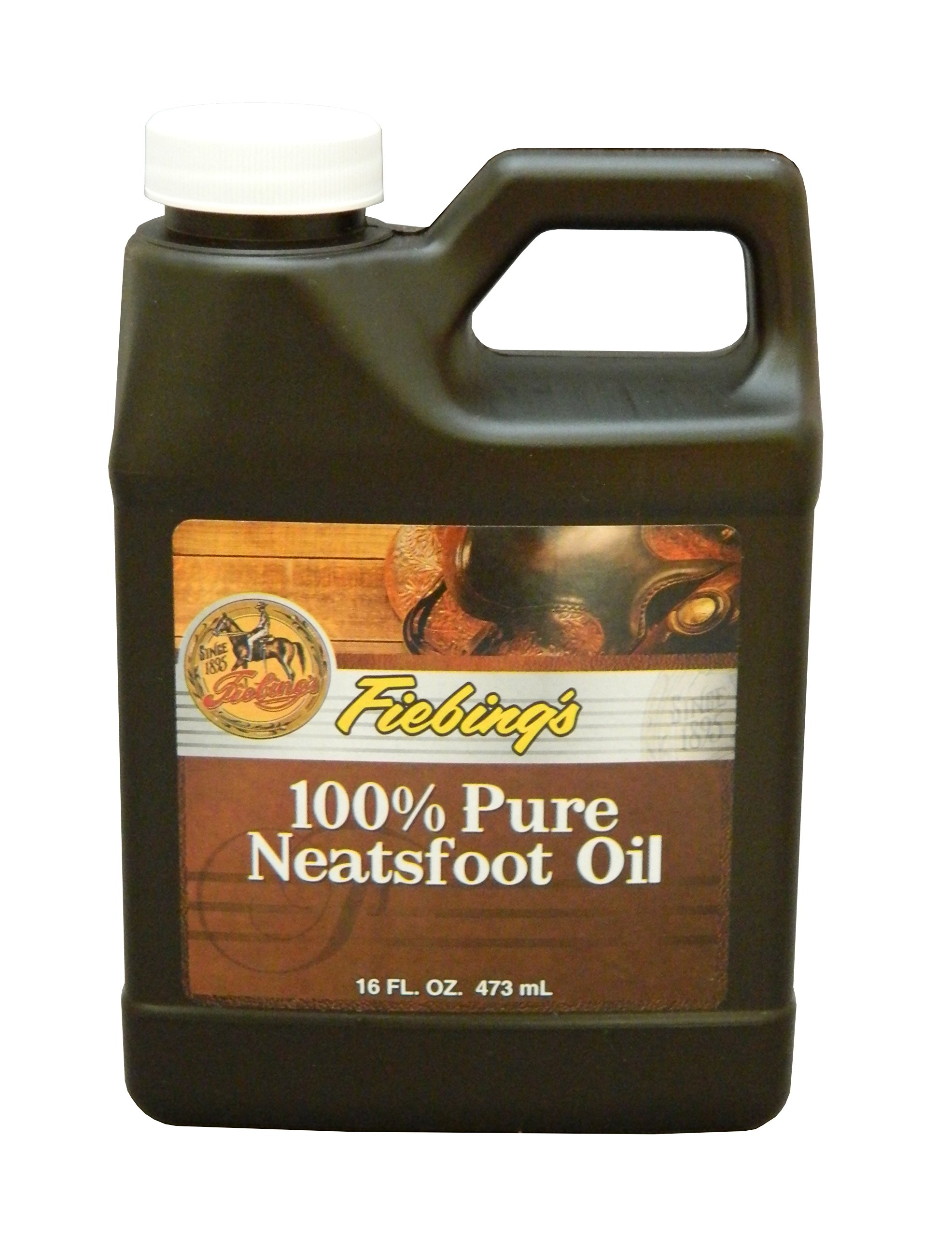 Fiebing's 100% Pure Neatsfoot Oil - Natural Leather Preserver - For Boots, Baseball Gloves, Saddles and More - 16 oz by Fiebing's