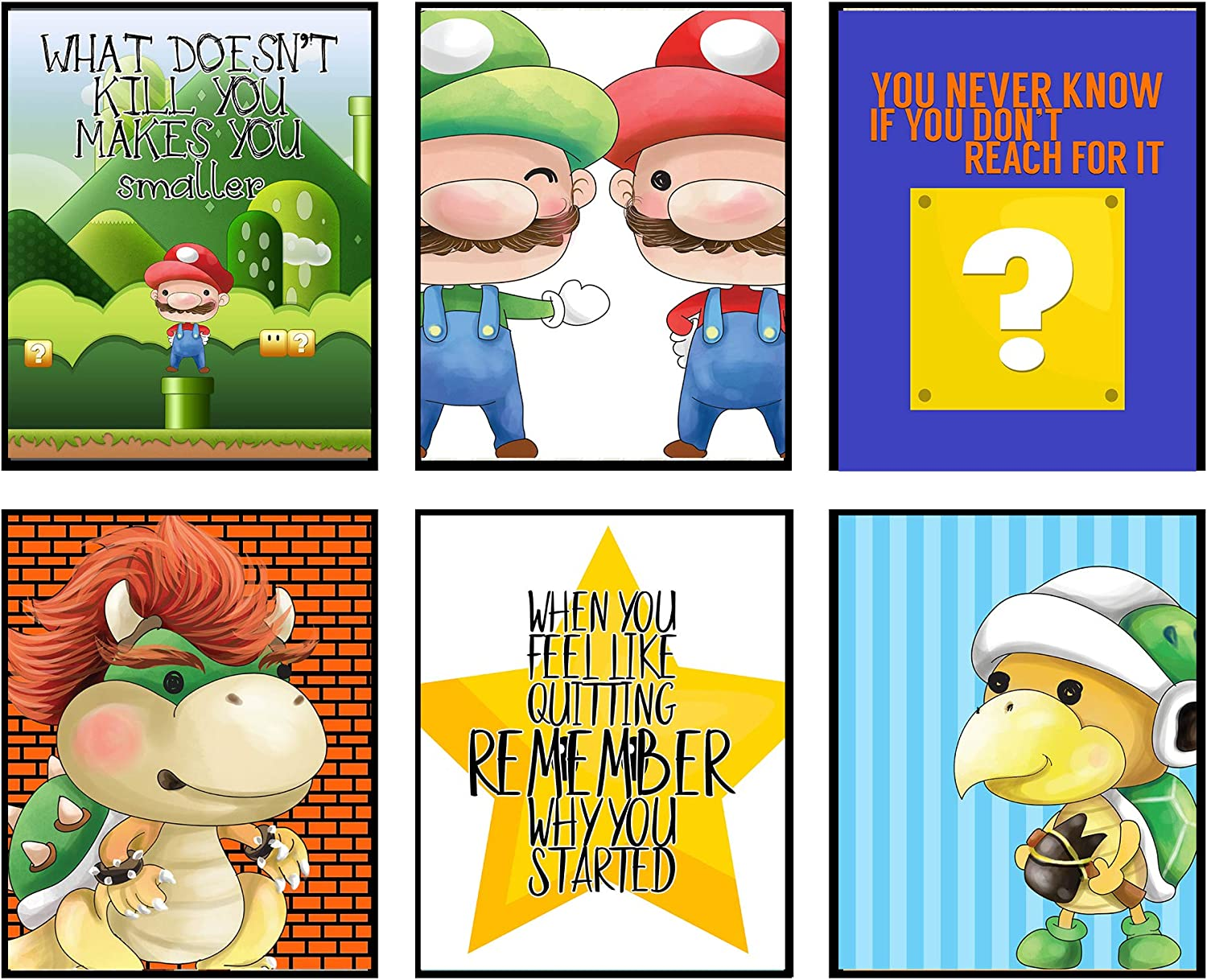Plumbers Need Love Too - Video Gamer Room Wall Art Prints Decor (Reach for It)