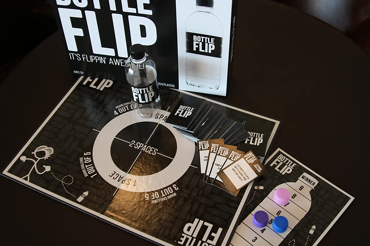 Amazoncom Bottle Flip Board Game Toys Games